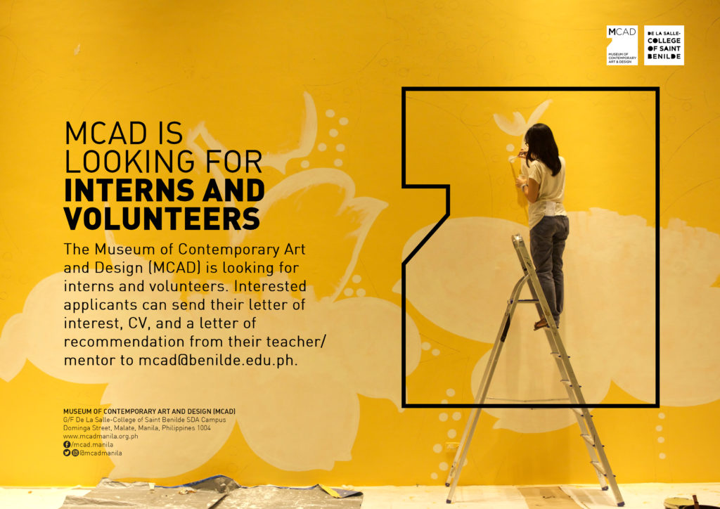 Internship/Volunteer Opportunities - MCAD Manila